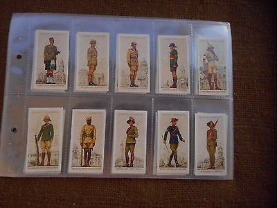 Full Set Cigarette Cards - Players Military Uniforms Of British Empire Overseas