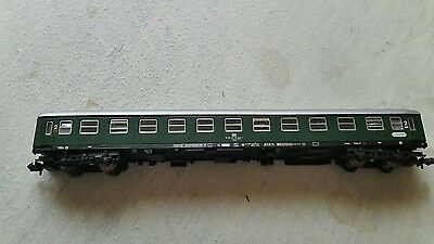 A model railway 2nd class German coach in N gauge by fleischmann boxed 8643 K