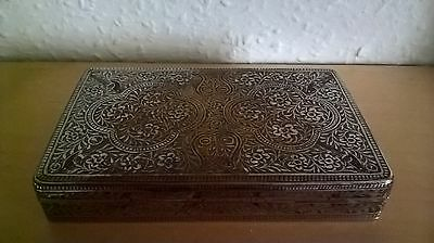 Vintage Indian Silver Plated Cigarette Box