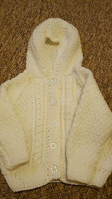 hand knitted baby cardigan 12-18 months