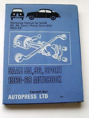 Saab Two-Stroke Workshop Manual All Models 1960-1968 Including Monte Carlo Vgc