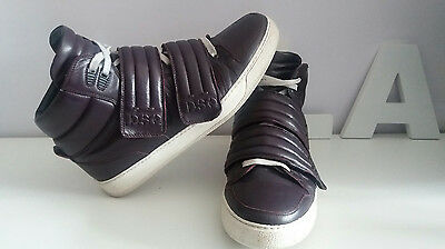 Dsquared Sneakers Boots Leather Size 43 Eu, 9.5 Usa
