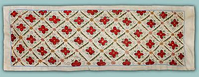 Exceptional Uzbek Silk Hand-Embroidery Suzani From Bukhara M404