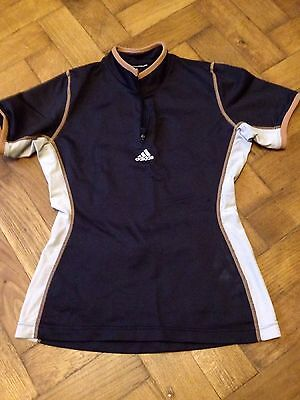 Women's Adidas Cycling T-shirt, Black, Size Small