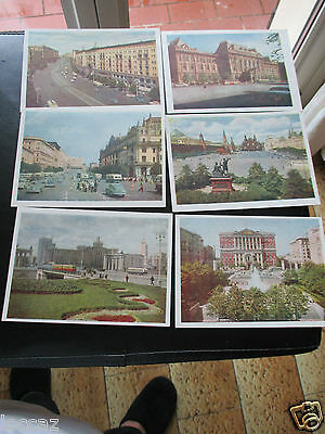 Cpsm 1950 / 1960 Urss 6 Cartes Moscou  Lot 2