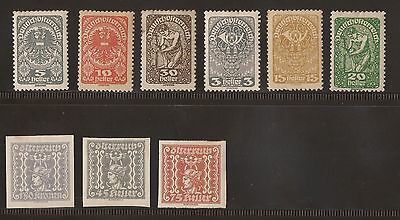 Selection Of Stamps  Unused Austria  #d