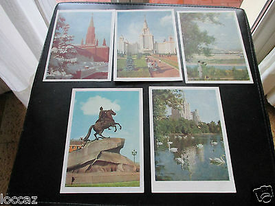 Cpsm 1950 / 1960 Urss 5 Cartes Moscou  Lot 3