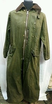 """Mens Barbour Burghley Wax Full Length Riding Coat 38"""" Chest"""