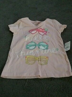 ☆☆ New ☆☆ Girls Pink T Shirt Top Age 6-7 Years
