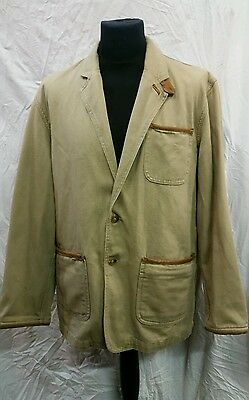 """Mens Orvis Cotton Fishing Jacket Size 44"""" Chest"""