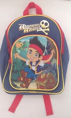 Boys Jake & The Never land Pirate Backpack Bag Rarely Used. VGC