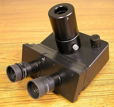 Leitz Germany Ergolux Microscope Trinocular Head with Periplan 10X/18 eyepieces
