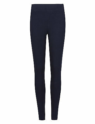 Ex M&S Roma Leggings Mid Rise Ladies Women Stretchy Pants Jeggings Marks Spencer