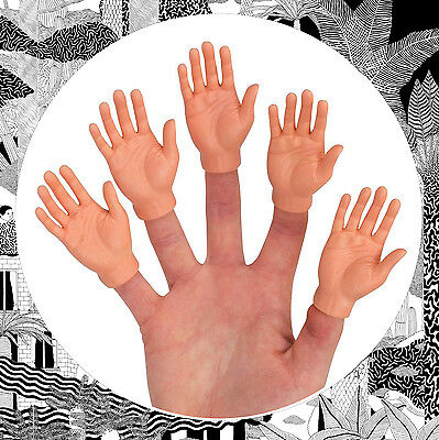 Finger Hands- Mini Hands For Your Fingers- Left, Right, Pair or Full Sets Rubber