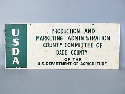 Vintage USDA U.S. Department Of Agriculture Dade County Double Sided Metal Sign