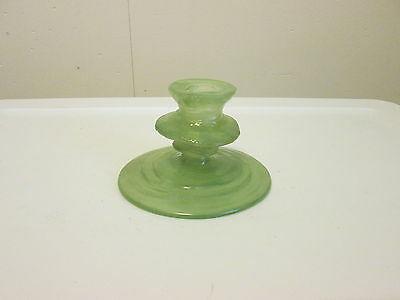 Consolidated Glass CATALONIAN Jade Green Footed Candlestick No. 1124