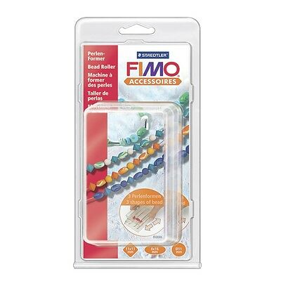 Staedtler Fimo Clay Bead Roller makes 3 Shapes 8712 Transparent