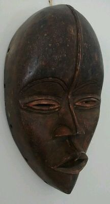 West African Ethnic tribal Old hand carved traditional wooden mask