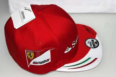Scuderia Ferrari Official Licensed Kimi Raikkonen F1 Flexi Fit Flat Brim Hat Cap
