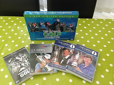 The Open Championship Golf Dvds X4