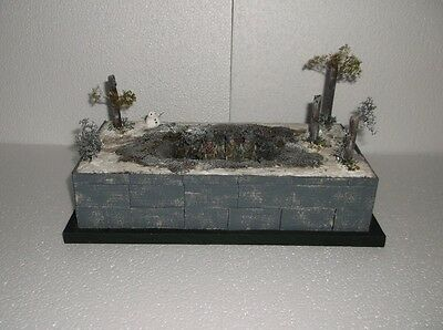 Winter foxhole diorama with BBA40 king and country figures