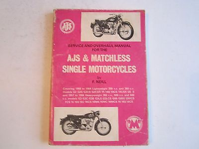 1966 Ajs & Matchless Twin Motorcycles Service & Overhaul Manual - Bn-12
