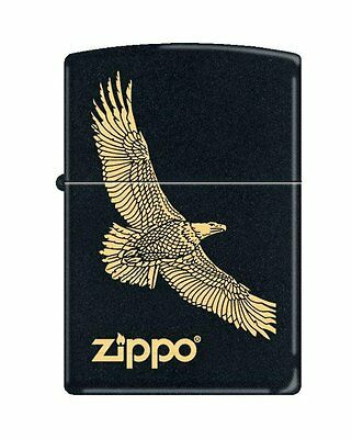 Zippo 7793, Eagle-Zippo Logo, Black Matte Finish Lighter, Full Size