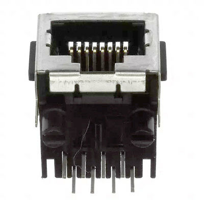 TE Connectivity 5555141-1 Connector RJ-45 Female 8 Position 2.54mm Solder 5 pcs