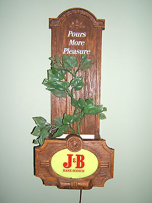 J&b Rare Scotch Whiskey Lighted Planter Sign. Early 70's
