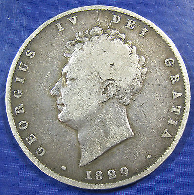 1829 2/6 George IV silver Halfcrown in a decent grade
