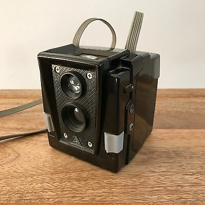 Vintage Sears Roebuck Tower 120 2 1/2 Camera. In Working Order. Strap Attached.