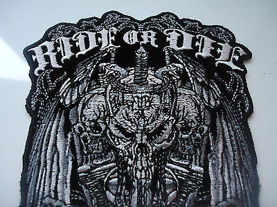 Ride Or Die Embroidered Iron On Biker Vest Patch Harley Davidson Victory