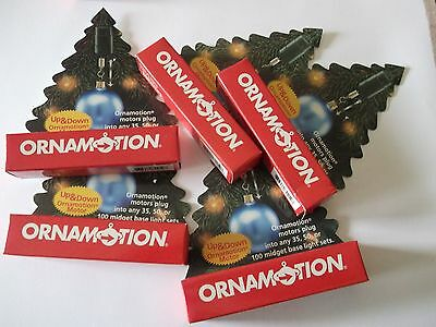 Ornamotion Motors Up and Down Motors Spinner Twirly Ornaments  5 NIP!!
