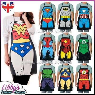 Superhero Apron Marvel DC Comics Unisex Adults Novelty Funny Cooking BBQ Chef
