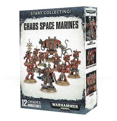 Warhammer 40k Chaos Space Marines Start Collecting! (13 plastic models) NIB