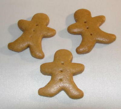 MINI GINGERBREAD BOY ~ Gingerbread Ornament ~ Set of 6 ~ USA HANDMADE (NEW)
