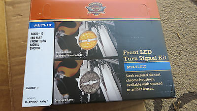 Genuine Harley LED Smoked Front Turn Signals Heritage Softail + Touring