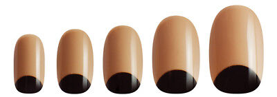 NEW Manicare Glam Almond French Nails Half Moon Nude