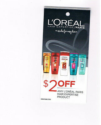 COUPONS - Save 5 x $2 off any L'OREAL PARIS HAIR EXPERTISE PRODUCT - CANADA