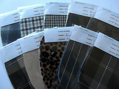 STUNNING FABRIC  ELBOW PATCHES/TRIMMINGS- LATEST FASHION- limited stock