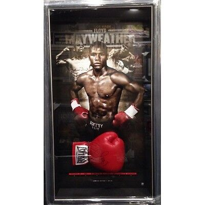 Floyd Mayweather Hand Signed And Framed Boxing Limited Edition Everlast Glove