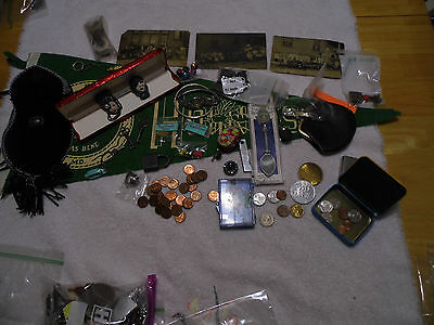 Jewelery / Junk Goodie Lot/2 Booches By Elvira & Jackie Old Coins