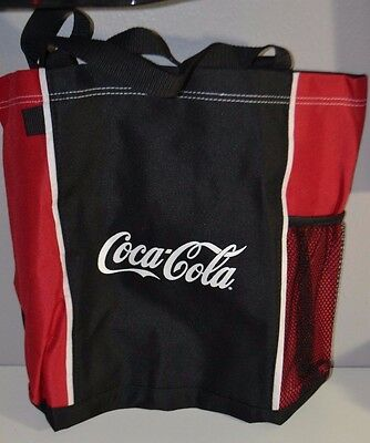 NEW Coca Cola Beach Shopping Bag Tote Bottler Holder With Plastic Coke Bag