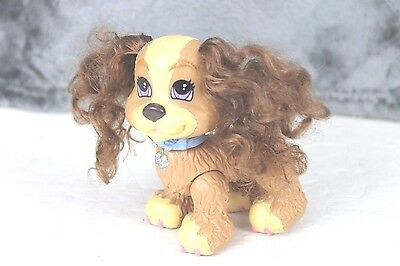 Fisher Price 2008 Coco The Cocker Spaniel Real Hair Tan Brown Dog Figure