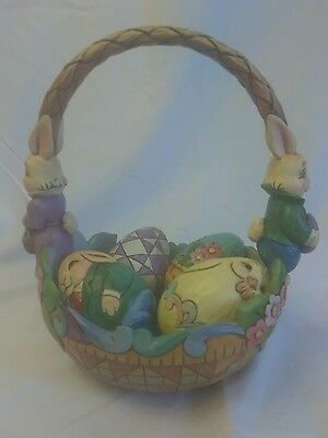 """For The Love Of Easter"" Jim Shore Easter Basket with eggs. Heartwood Creek"