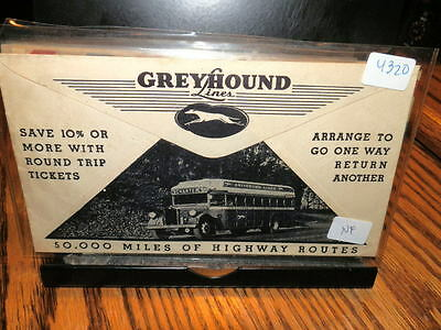 #4320,Greyhound Bus Cover Pictorial Both Sides Seldom Seen 1940's