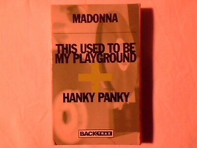 MADONNA This used to be my playground + Hanky panky cassingle VERY RARE LIKE NEW