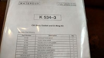 Waterous CM Body Gasket and O-Ring Kit K534-3
