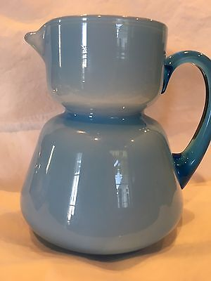 Blue And White Glass Pitcher