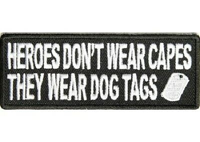 Lot Of 2 - Heroes Don't Wear Capes #2 Veterans Usa Embroidered Biker Patch